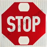 Stop Arm Decal - with Holes