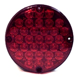 "7"" LED Warning Overhead Light Red"