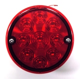 "LED 4"" Stop/ Tail with license light, studs"