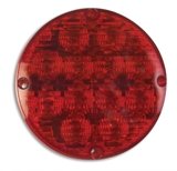 "7"" LED Warning Light with IC Plug - Red"