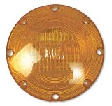 "7"" Warning Light Stainless Steel Amber, 2 Wire"