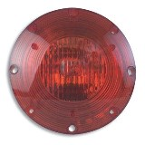 "7"" Warning Light Stainless Steel Red"
