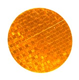 Stick-On Tape Reflector Amber
