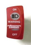 Thomas Curved Rocker Switch Warning