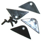 Double Nickel Mirror Corner Clips with Screws