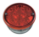 "LED 4"" Stop & Tail Light w/ license Light"