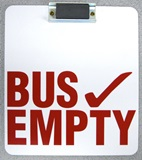 Bus Empty Sign with Magnet