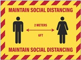 Maintain Social Distancing Decal