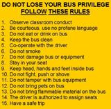 Bus Rules - Numbers 1-15