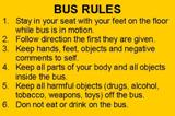 Bus Rules - Numbers 1-6