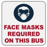 Mask Photo in Blue - Face Masks Required on this Bus