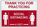Thank You for Practicing Social Distancing, 6 Feet