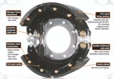 "Xtreme Brake Shoe Kits - 2 Lined Shoes and Hardware (16.5"" x 7"") - Rockwell, Fruehauf Platforms"